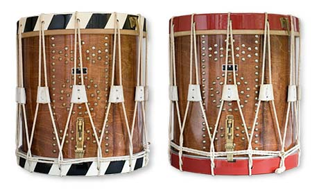 16-inch side drums with different paint finishes